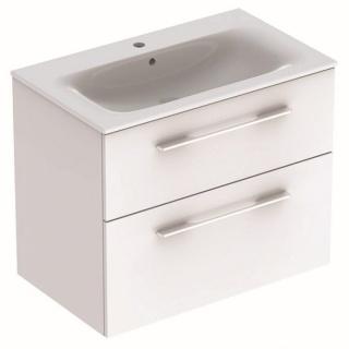Set PROMO mobilier baza si lavoar Geberit Selnova Square 78,8x48xH63,5 cm alb lucios