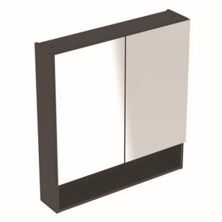 Dulap cu oglinda Geberit Selnova Square cu doua usi 58,8x17,5xH85 cm antracit