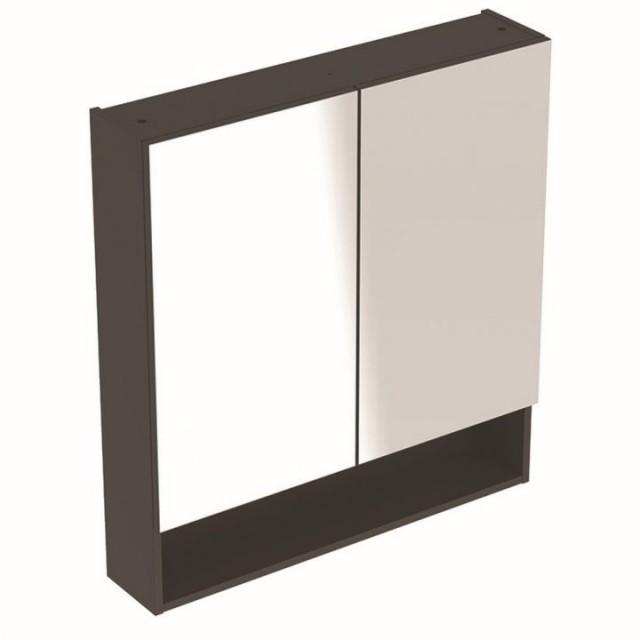 Dulap cu oglinda Geberit Selnova Square cu doua usi 78,8x17,5xH85 cm antracit