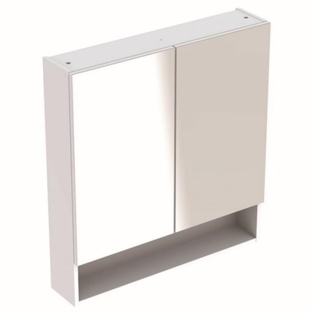 Dulap cu oglinda Geberit Selnova Square cu doua usi 78,8x17,5xH85 cm alb