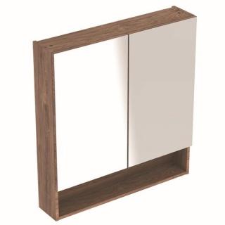 Dulap cu oglinda Geberit Selnova Square cu doua usi 58,8x17,5xH85 cm maro