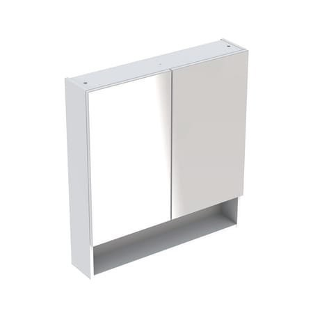 Dulap cu oglinda Geberit Selnova Square cu doua usi 58,8x17,5xH85 cm alb