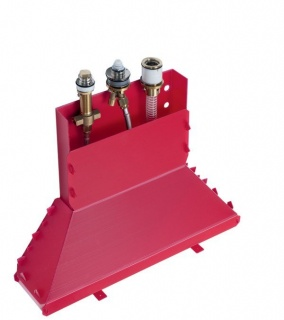 Set de baza pentru montajul bateriei de cada Hansgrohe Talis E cu 3 orificii imagine