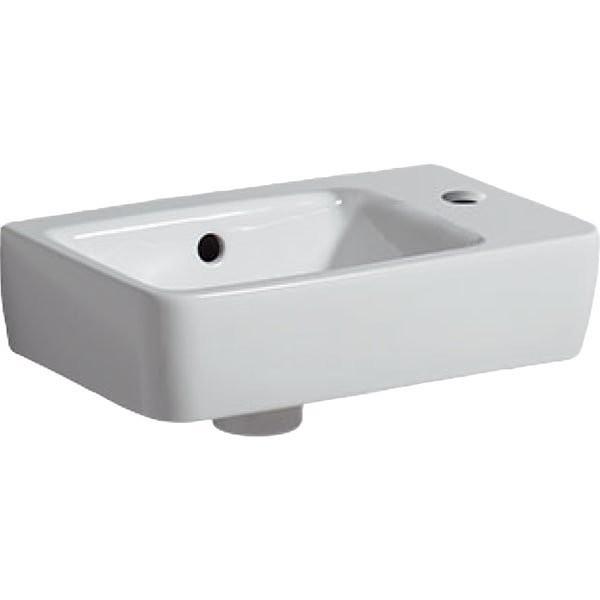 Lavoar Geberit Selnova Compact cu proiectie mica asimetrica dreapta 40x25xH15 cm