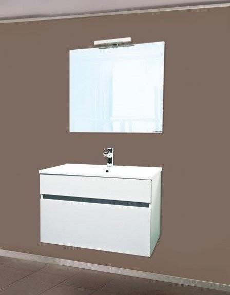 Set PROMO baza lavoar, lavoar si oglinda Sanotechnik Stella 75 alb