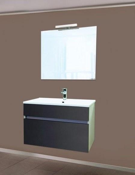 Set PROMO baza lavoar, lavoar si oglinda Sanotechnik Stella 75 antracit