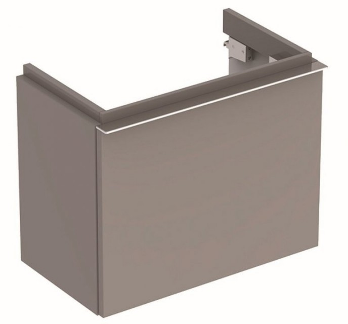 Mobilier Geberit iCon gri platin cu sertar pentru lavoar