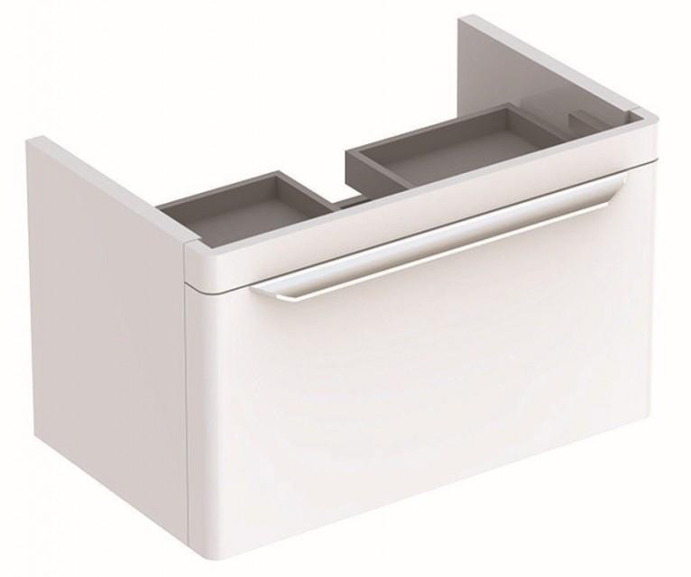 Mobilier Geberit myDay alb lucios pentru lavoar cu sertar
