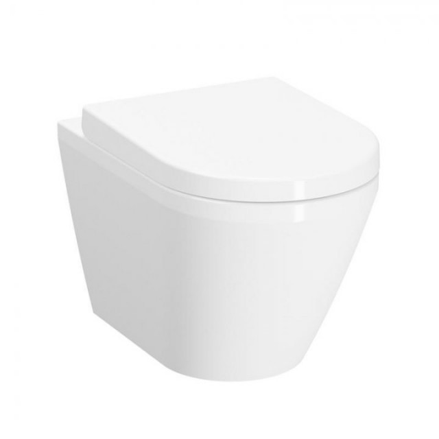Set vas WC suspendat Vitra Integra 54cm Rim-Ex cu functie de bideu si capac inchidere lenta
