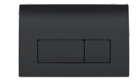 Clapeta actionare Dual-Flush,Geberit Delta 51 pentru rezervor incastrat, negru