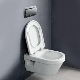 Set PROMO Villeroy&Boch Architectura vas WC Rimless Direct Flush si capac Soft Close 53x37xH33 cm