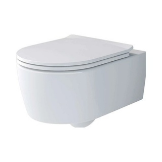 Set PROMO Villeroy&Boch Avento Direct Flush vas WC Rimless si capac Soft Close 53x37xH31 cm
