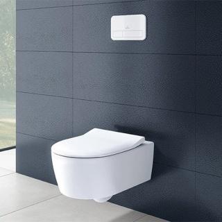 Set PROMO Villeroy&Boch Avento Direct Flush vas WC Rimless si capac Soft Close 53x37xH31 cm