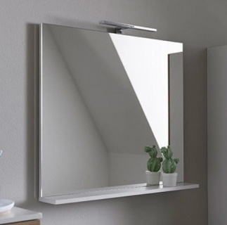 Oglinda Kolpasan Evelin  cu etajera 80xH70 cm alba