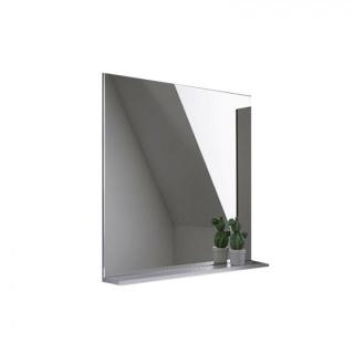 Oglinda cu etajera Kolpasan Evelin 65xH70 cm alb