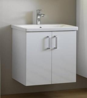 Set PROMO mobilier si lavoar Kolpasan Evelin alb 80x44xH65 cm