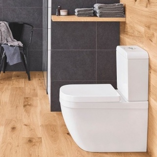 Set PROMO Vas WC pe pardoseala Grohe Euro Ceramic Rimless rezervor si capac SoftClose