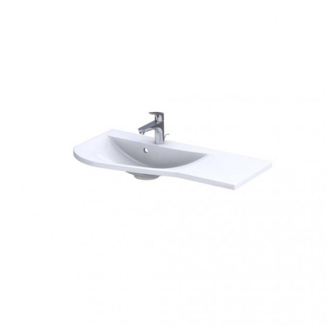 Lavoar Oristo Opal stanga alb lucios 90x45 cm