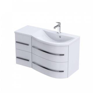 Lavoar Oristo Opal dreapta alb lucios 90x45 cm
