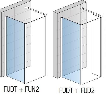 Perete lateral Sanswiss Fun FUDT 100 x H200 cm