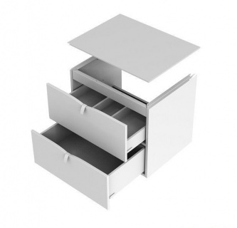 Baza de lavoar Oristo Siena suspendat 80x45xH55 cm alb