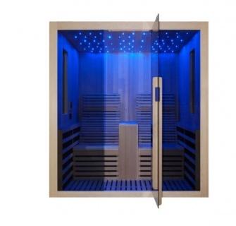 Sauna Sanotechnik Carbon 2 brad canadian 180x150xH195 cm LED Starlight