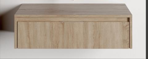Baza lavoar Dalet Slim tip stativ stejar 80 x 47 x 23 cm