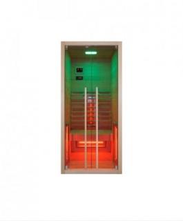 Sauna infrarosu Sanotechnik Ruby 1 lemn canadian 100x90x195 cm cromoterapie
