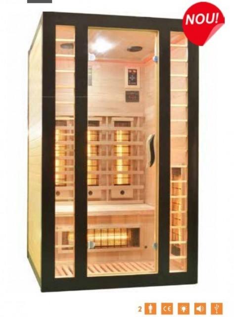 Sauna Sanotechnik Fresh-Negru brad canadian 120x105x195 cm LED Starlight