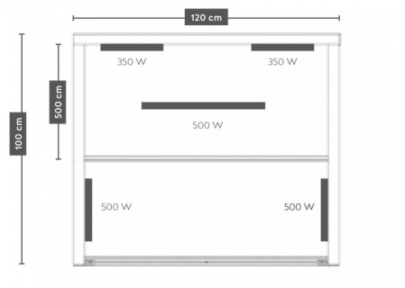 Sauna infrarosu Sanotechnik Ruby 2 lemn canadian 120x100xH195 cm cromoterapie