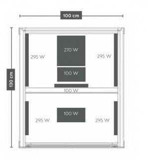 Sauna Sanotechnik Carbon 1 brad canadian 130x100xH195 cm LED Starlight
