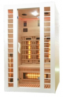 Sauna Sanotechnik Fresh-Alb brad canadian 120x105x195 cm LED Starlight