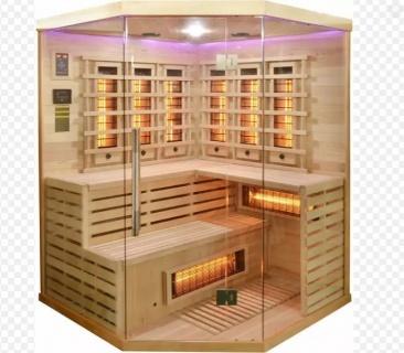 Sauna Sanotechnik Deluxe brad canadian 150x150xH200 cm cromoterapie
