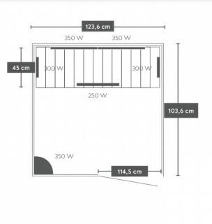 Sauna Sanotechnik Luna brad canadian 123,6x103,6xH200 cm cromoterapie