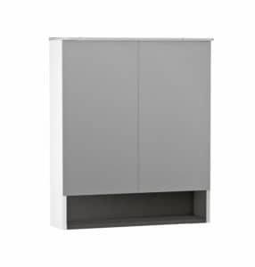 Oglinda Oristo Beryl 80,2x71xH15, 2 usi alb mat imagine