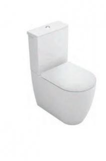 Set PROMO Vas WC Gala Coral pe pardoseala 62x36 cm, rezervor si capac Slim Soft Close