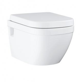Set PROMO Vas WC Grohe Euro Ceramic Rimless Triple Vortex si capac SoftClose  54x37 cm