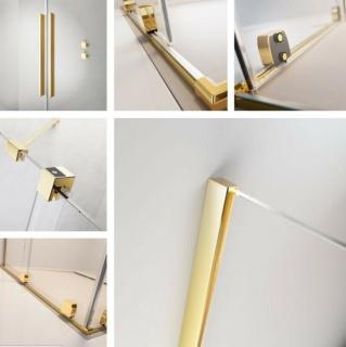 Cabina dus Radaway Furo KDD 110x100xH200 cm, auriu