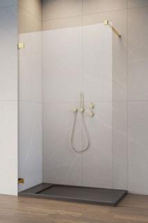 Cabina dus Walk-in Radaway Essenza Pro 8, 135 x 200 cm, gold imagine