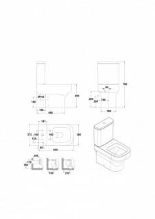 Rezervor WC Mid alimentare laterala