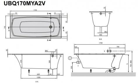 Cada Villeroy&Boch My Art Quaryl 170x75xH53 cm