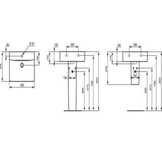 Set PROMO Lavoar si semipicior Ideal Standard Connect