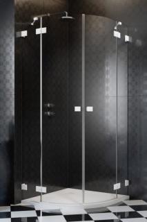 Cabina de dus semirotunda Radaway Essenza Pro White PDD 100x100xH200 cm