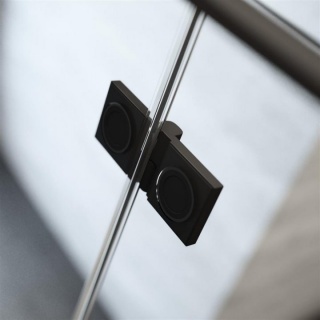 Usa nisa pliabila Radaway Nes 8 Black DWB 90xH200 cm, dreapta