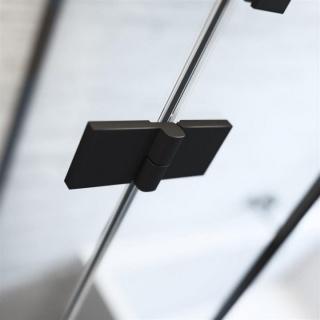 Usa nisa pliabila Radaway Nes Black DWB 80xH200 cm, stanga