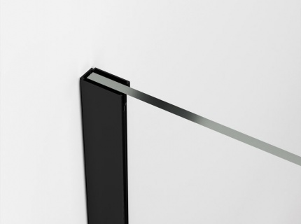 Cabina dus Walk-in SanSwiss Easy Japan STR4P 80xH200 cm, profil negru mat