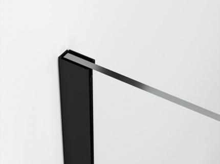 Cabina dus Walk-in SanSwiss Easy Japan STR4P 90xH200 cm, profil negru mat