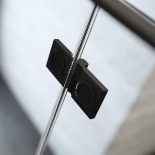 Usa nisa pliabila Radaway Nes Black DWB 80xH200 cm, dreapta