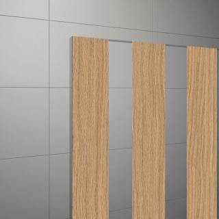 Cabina dus Walk-in SanSwiss Easy Japan STR4P 100xH200 cm, profil alb mat