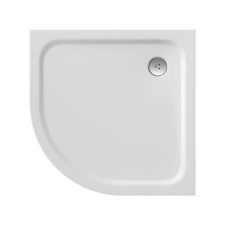 Cadita dus semirotunda Ravak Elipso Pro Chrome 80x80xH3 cm, marmura sintetica